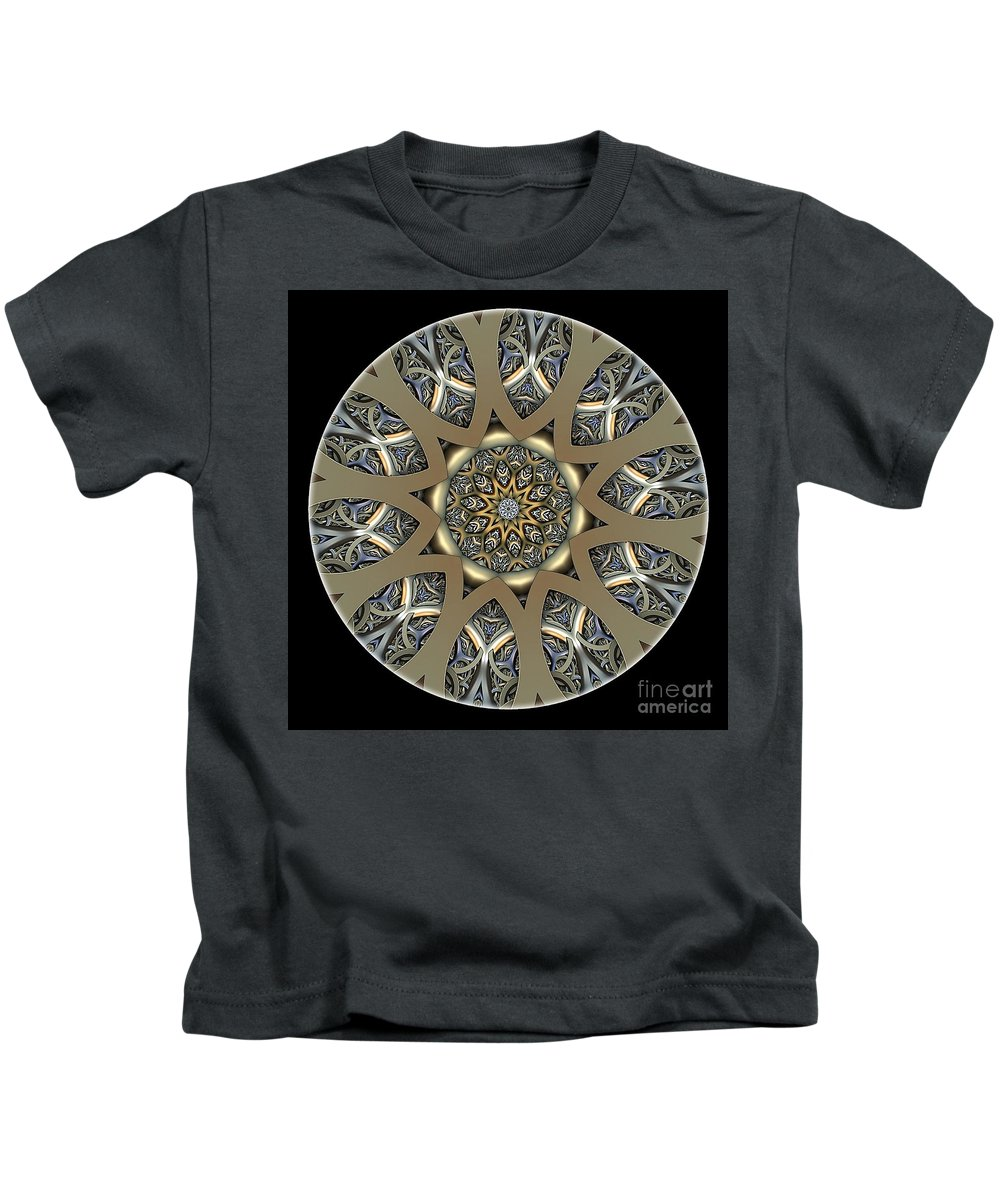 Talisman Kids T-Shirt featuring the digital art Mandala - Talisman 1435 by Marek Lutek
