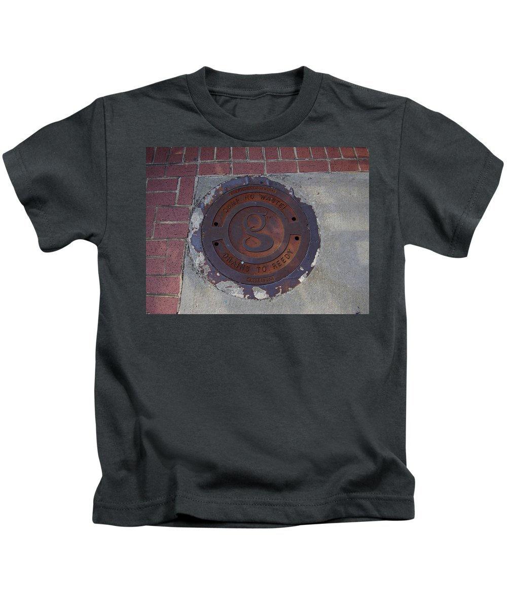 Manhole Kids T-Shirt featuring the photograph Manhole II by Flavia Westerwelle