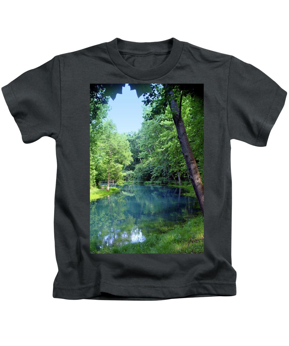 Maramec Springs Park Kids T-Shirt featuring the photograph Maramec Springs 2 by Marty Koch