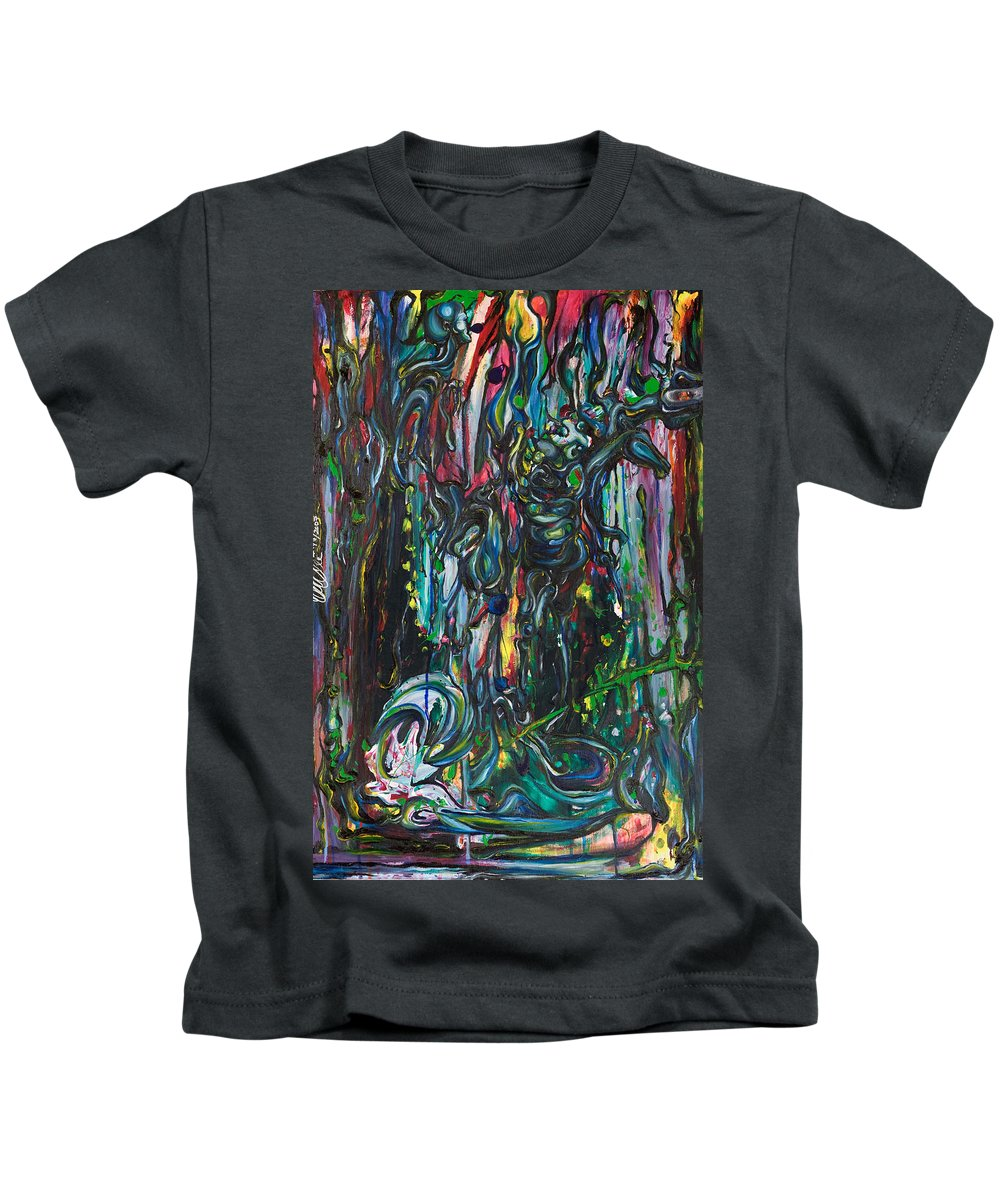 Surreal Kids T-Shirt featuring the painting March Into The Sea by Sheridan Furrer