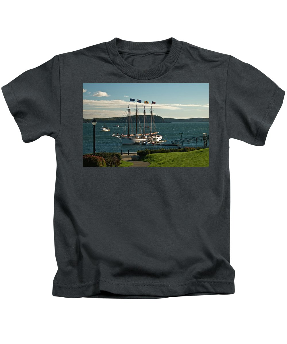 margaret Todd Kids T-Shirt featuring the photograph Margaret Todd - Bar Harbor Icon by Paul Mangold