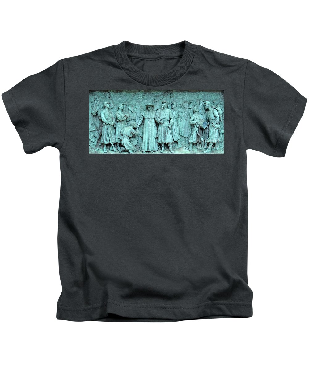 Montreal Kids T-Shirt featuring the photograph Marie Reine Du Monde 3 by Randall Weidner