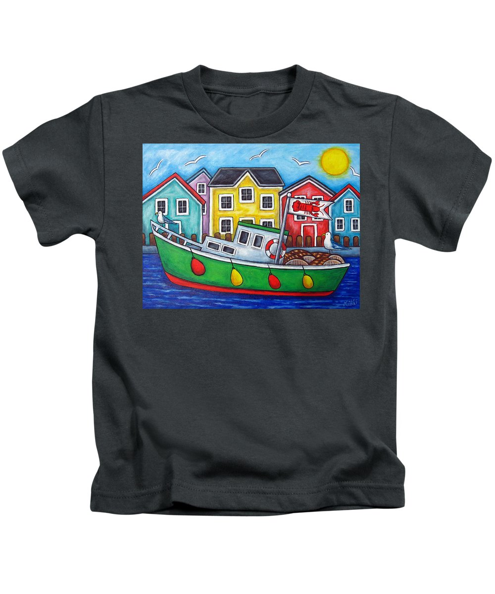 Lisa Lorenz Kids T-Shirt featuring the painting Maritime Special by Lisa Lorenz