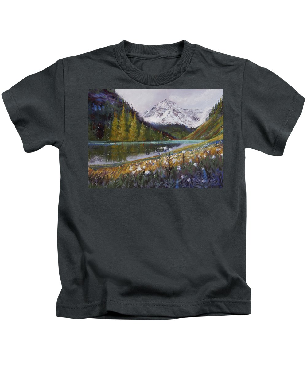 Maroon Lake Kids T-Shirt featuring the photograph Maroon Lake by Heather Coen