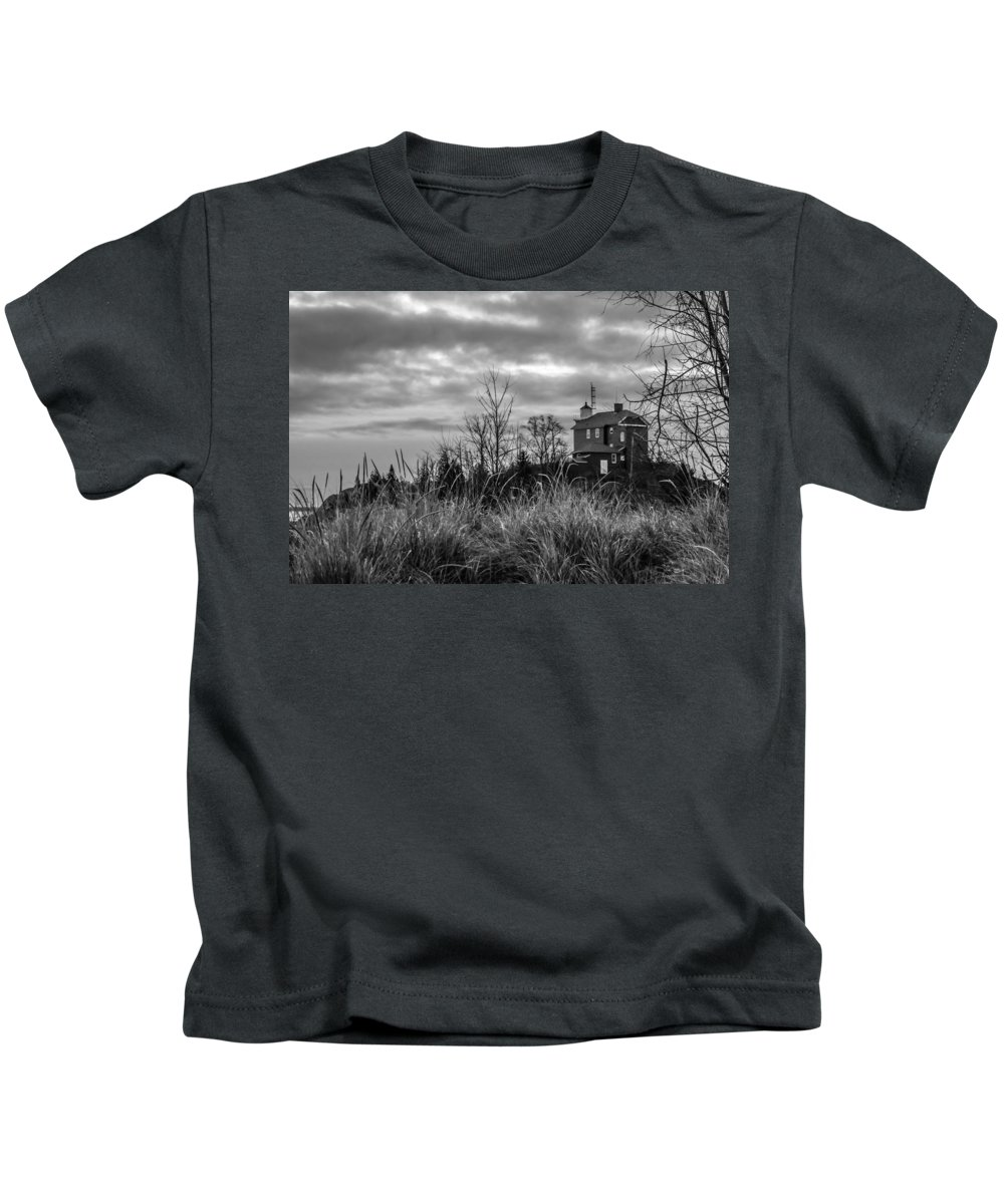 Landscape Kids T-Shirt featuring the photograph Marquette Harbor Lighthouse by Mary Stilwell