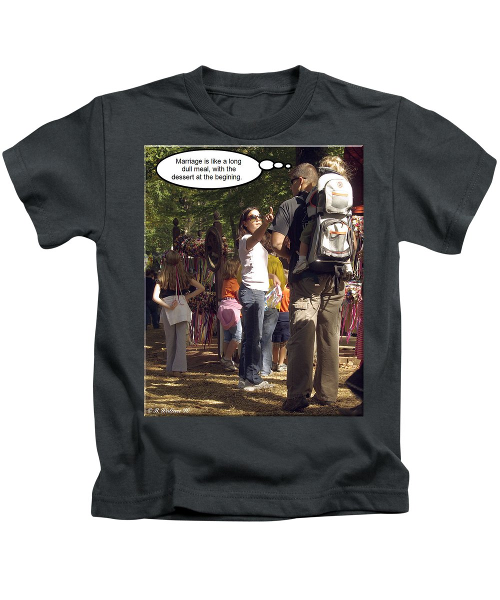 2d Kids T-Shirt featuring the photograph Marriage by Brian Wallace