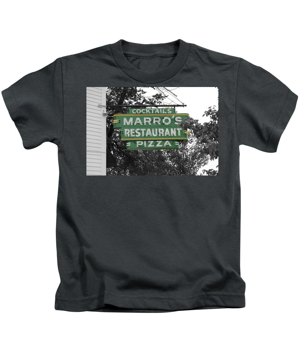 Marro's Kids T-Shirt featuring the photograph Marro's Restaurant by Jost Houk