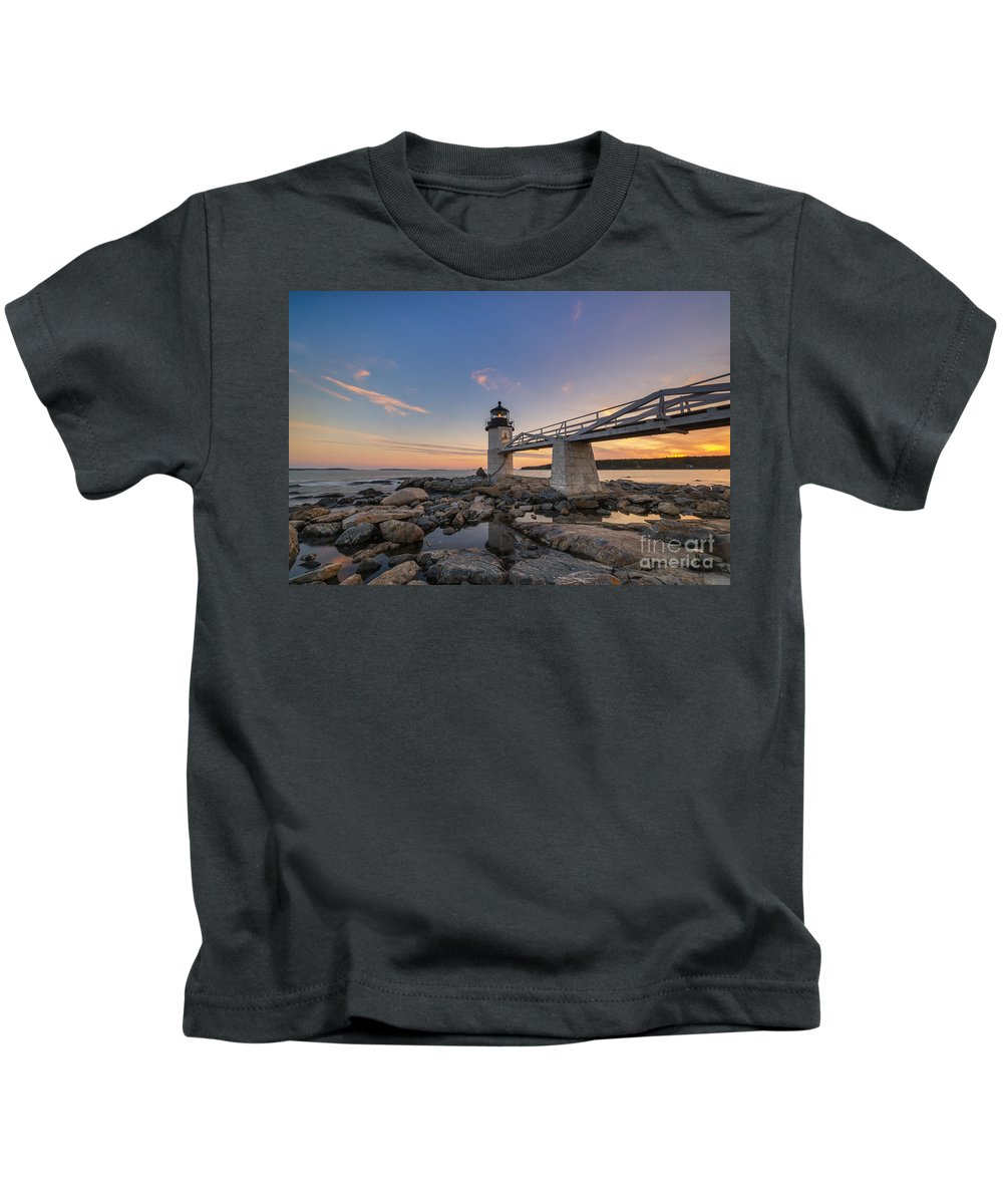 Marshall Point Lighthouse Kids T-Shirt featuring the photograph Marshall Point Lighthouse Reflections by Michael Ver Sprill