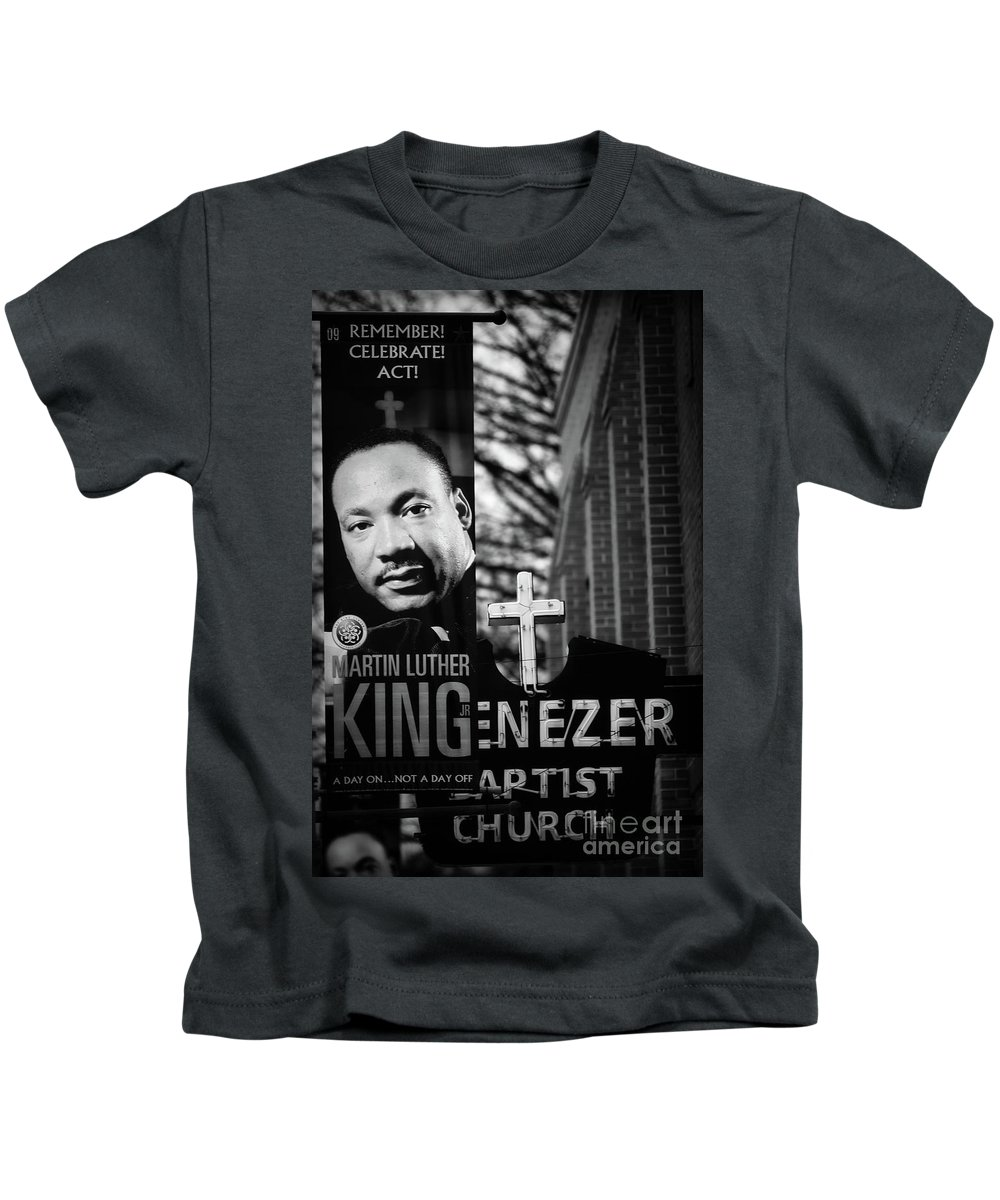 Martin Luther King Kids T-Shirt featuring the photograph Martin Luther King Day by Doug Sturgess