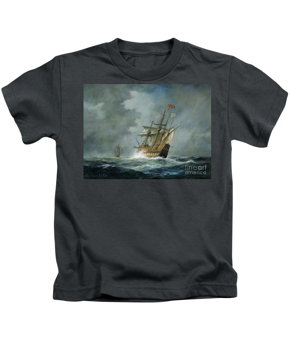 Mary Rose Kids T-Shirt featuring the painting Mary Rose by Richard Willis