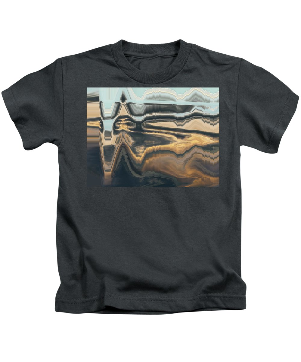 Abstract Kids T-Shirt featuring the digital art Masks 2 by Lenore Senior