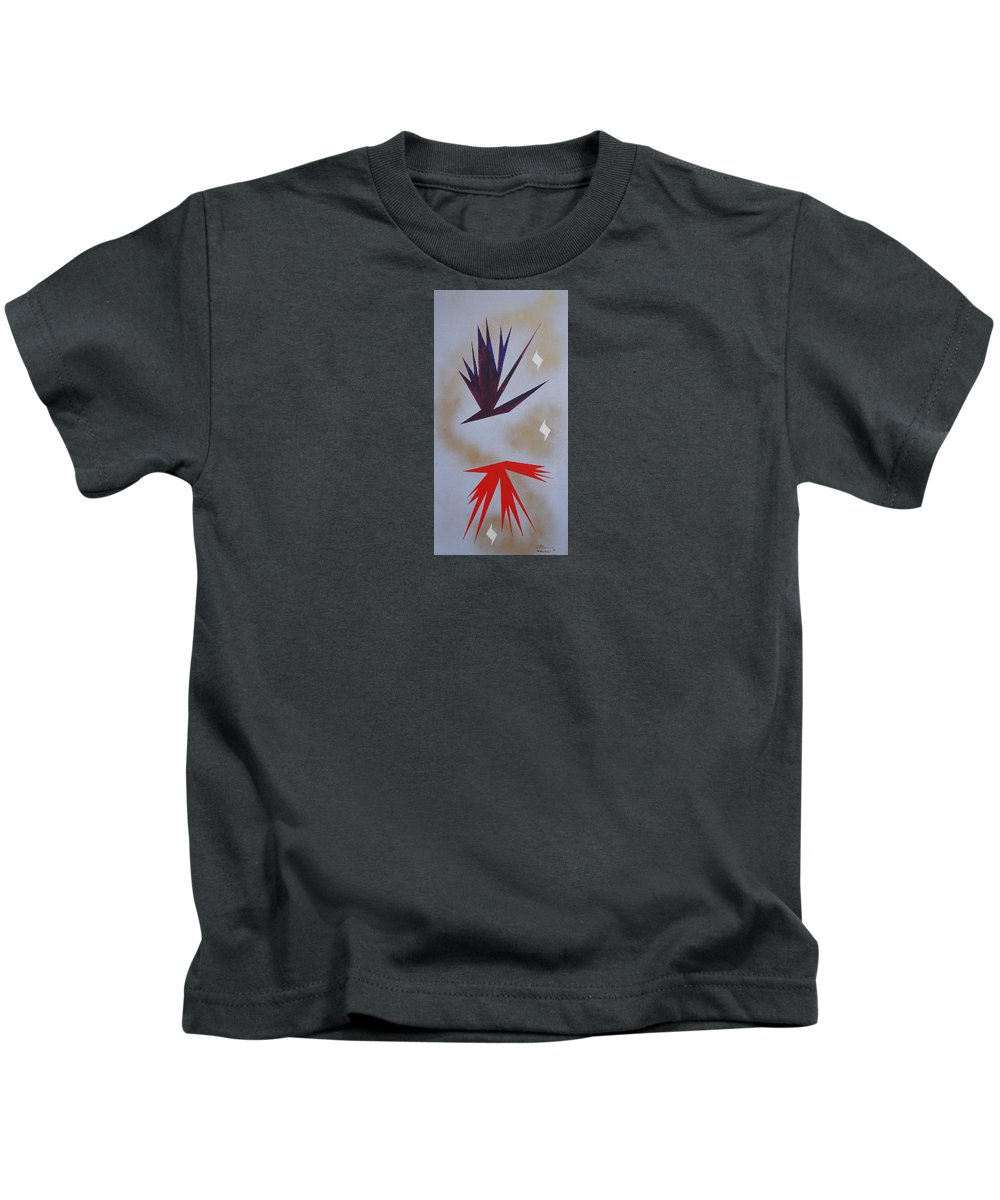 Birds Kids T-Shirt featuring the painting Mating Ritual by J R Seymour
