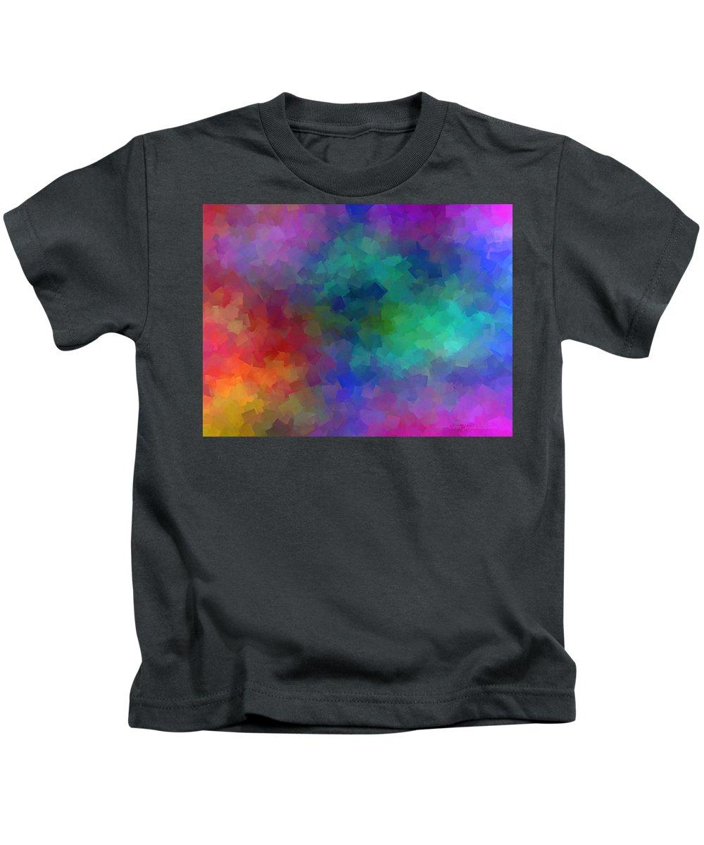 Matter Kids T-Shirt featuring the digital art Matter And Space by Joyce Dickens