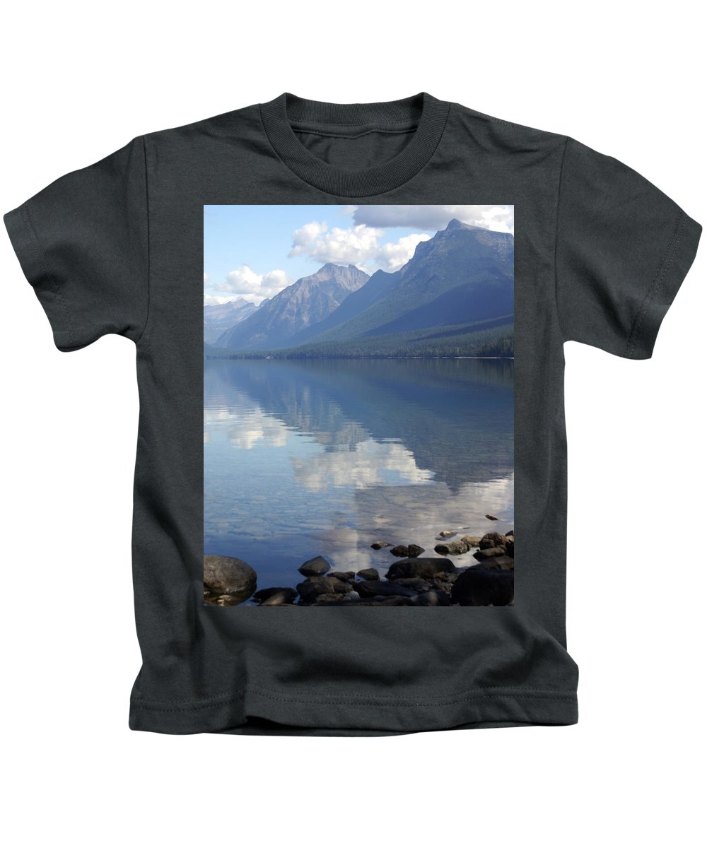 Lake Mcdonald Kids T-Shirt featuring the photograph Mcdonald Reflection by Marty Koch