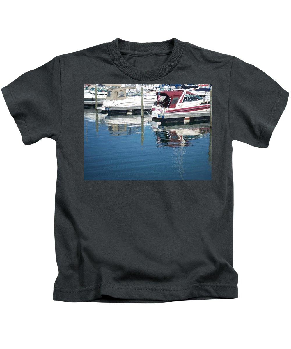 Mckinley Marina Kids T-Shirt featuring the photograph Mckinley Marina 1 by Anita Burgermeister
