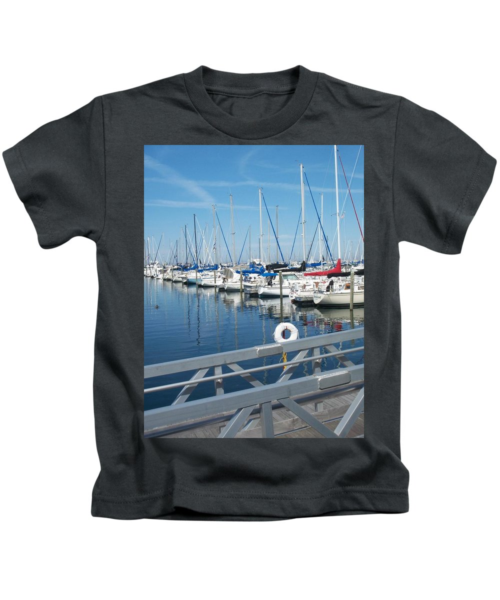 Mckinley Marina Kids T-Shirt featuring the photograph Mckinley Marina 5 by Anita Burgermeister
