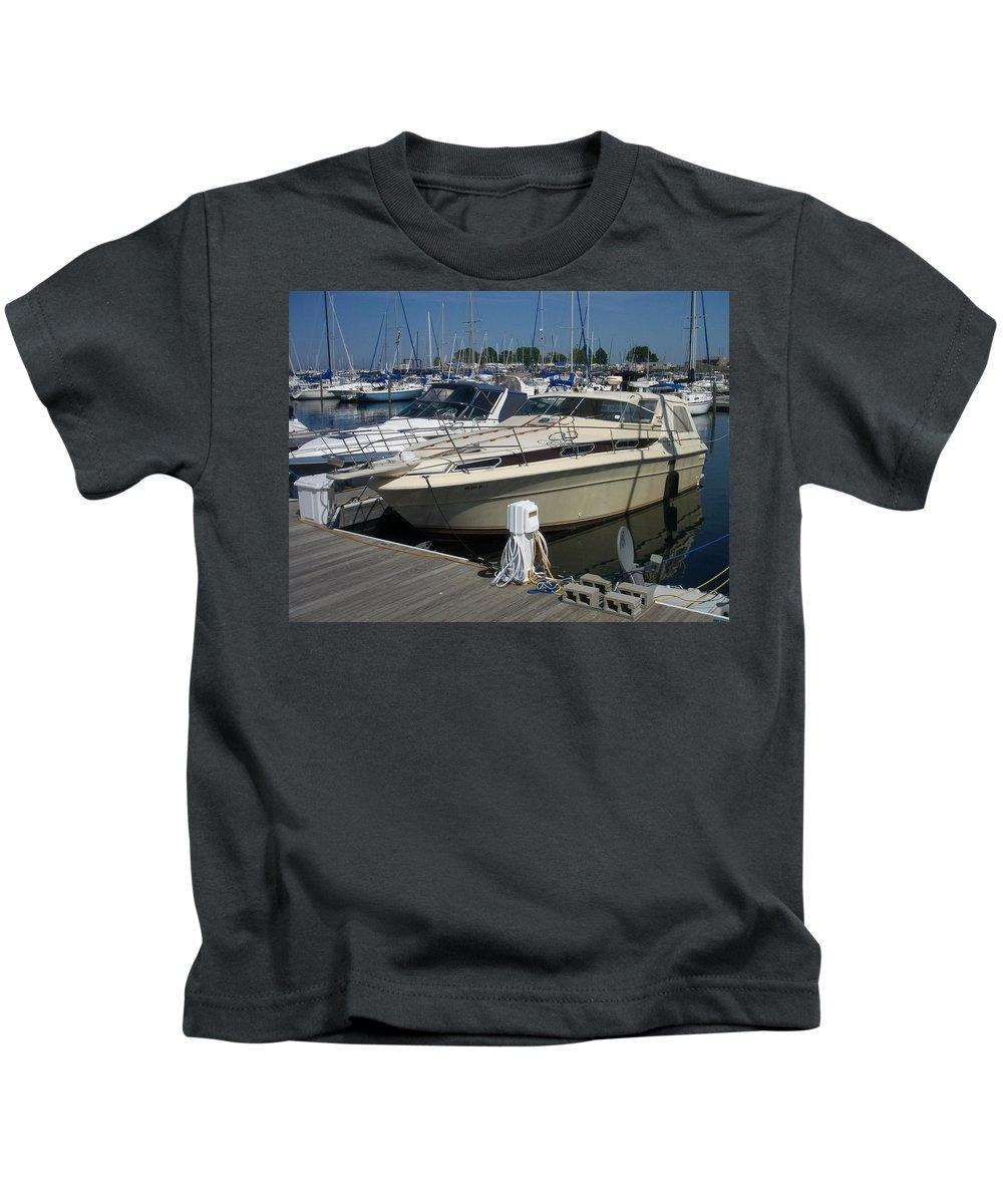 Mckinley Marina Kids T-Shirt featuring the photograph Mckinley Marina 7 by Anita Burgermeister