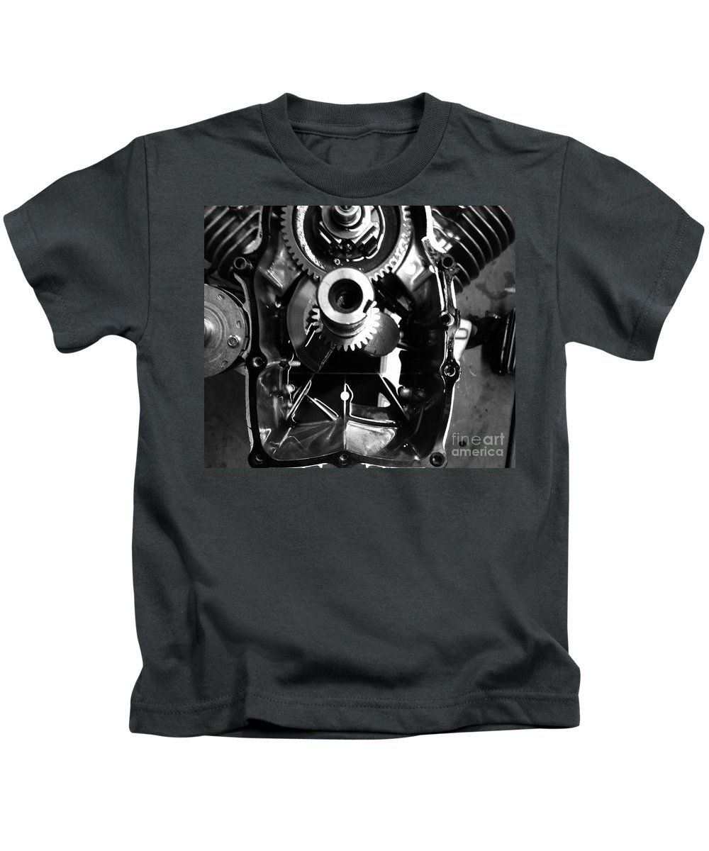 Engine Kids T-Shirt featuring the photograph Mechanical Energy by Michael Gailey