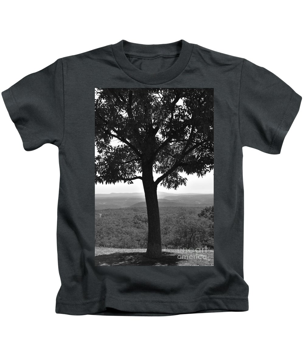 Maryland Kids T-Shirt featuring the photograph Meditation Tree by Lisa Kleiner