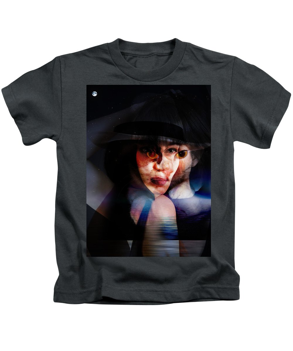 Kids T-Shirt featuring the painting meet Stella Sue by Maciej Mackiewicz