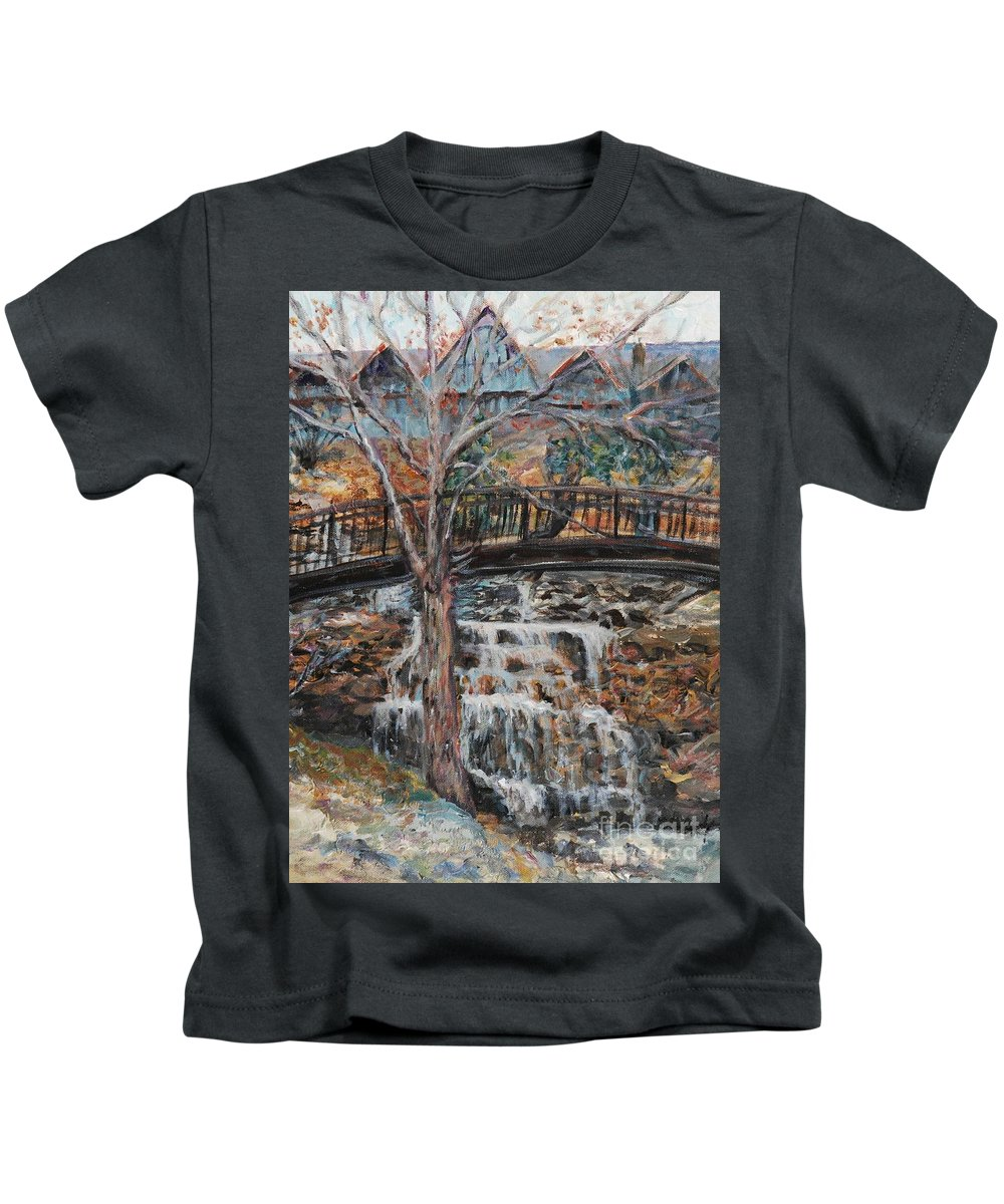 Waterfalls Kids T-Shirt featuring the painting Memories by Nadine Rippelmeyer
