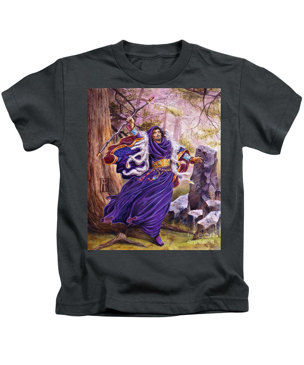 Artwork Kids T-Shirt featuring the painting Merlin by Melissa A Benson