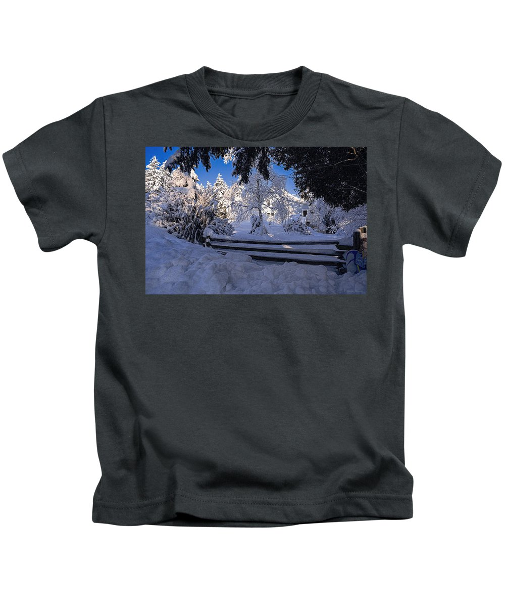 Kids T-Shirt featuring the photograph Merry Christmas And A Happy New Year by Marty Saccone