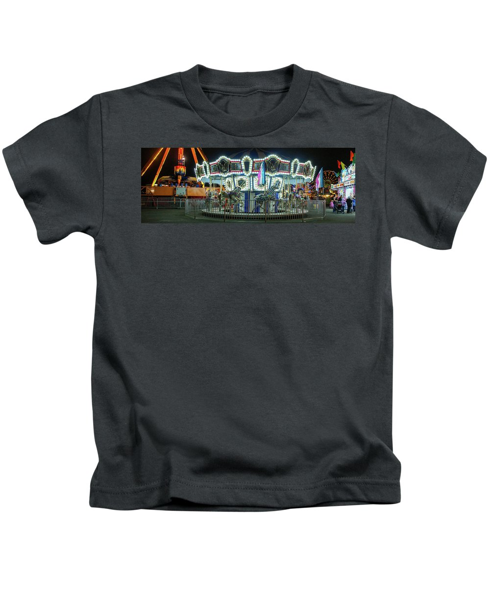 Vallejo Kids T-Shirt featuring the photograph Merry-go-round by Kristofer M Johnson
