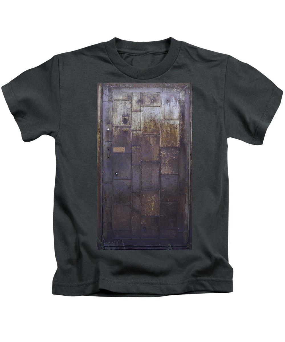 Door Kids T-Shirt featuring the photograph Metal Door by Herman Robert