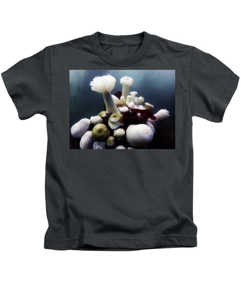 Monterey Kids T-Shirt featuring the photograph Metridium Fields by Erin Donalson
