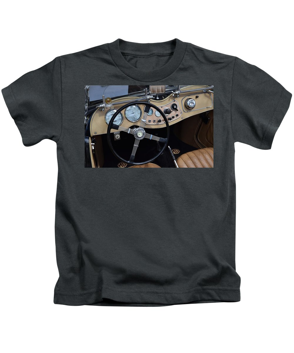 Mg Kids T-Shirt featuring the photograph MG by Recluse Road