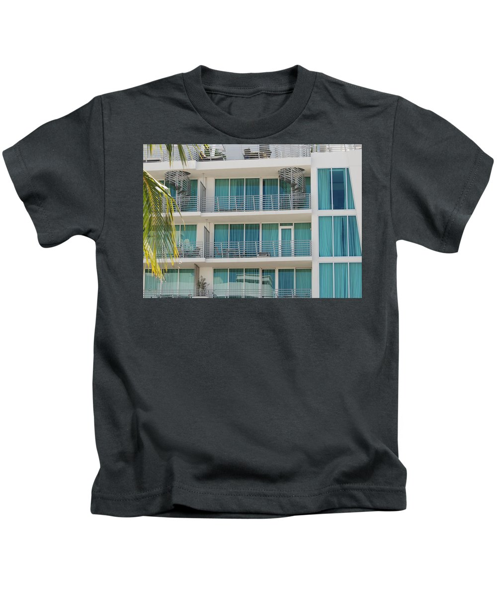 Architecture Kids T-Shirt featuring the photograph Miami Vice by Rob Hans