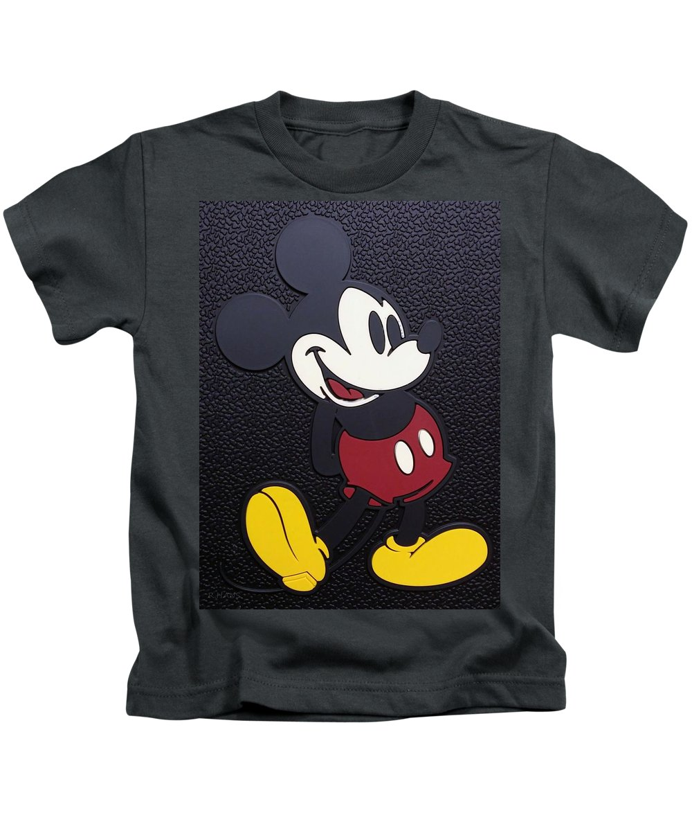 Mickey Mouse Kids T-Shirt featuring the photograph Mickey Mat by Rob Hans