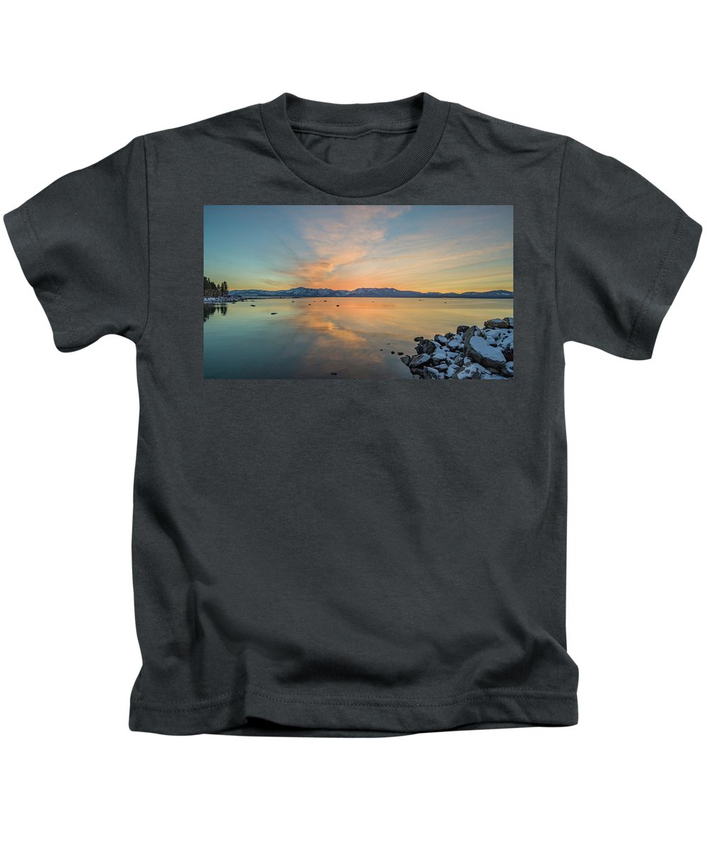 Drone Kids T-Shirt featuring the photograph Mid-winter Sheer by Tim Gregoire