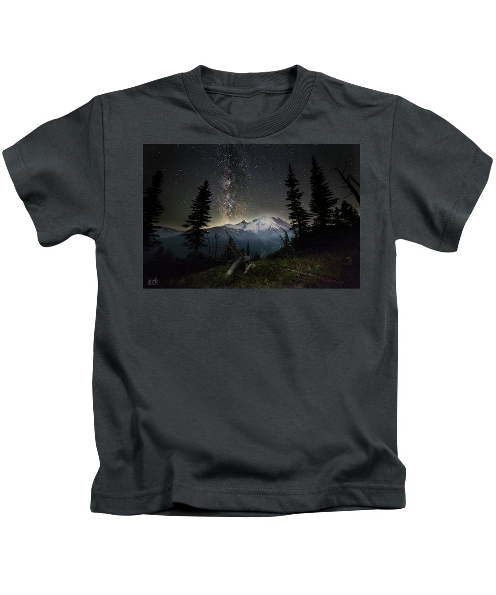 Friday Harbor Washington Kids T-Shirt featuring the photograph Milky Mountain by Thomas Ashcraft