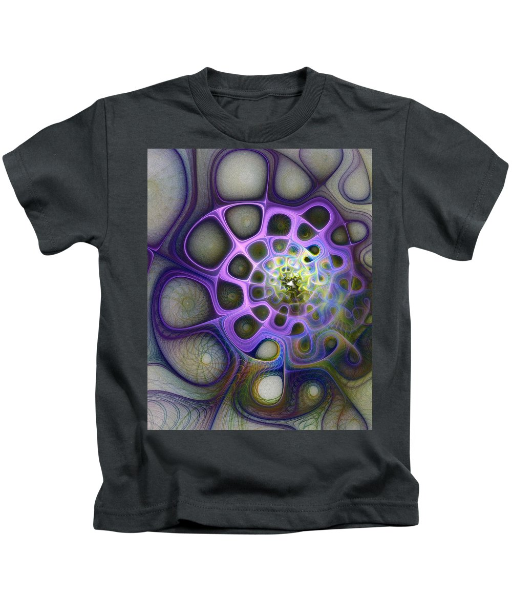 Digital Art Kids T-Shirt featuring the digital art Mindscapes by Amanda Moore