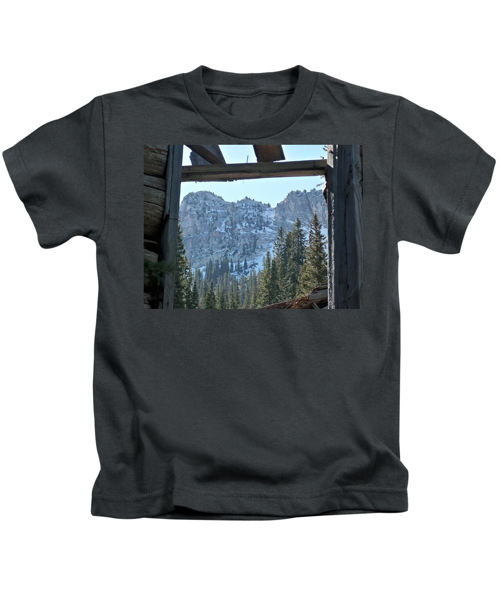 Mountain Kids T-Shirt featuring the photograph Miners Lost View by Michael Cuozzo