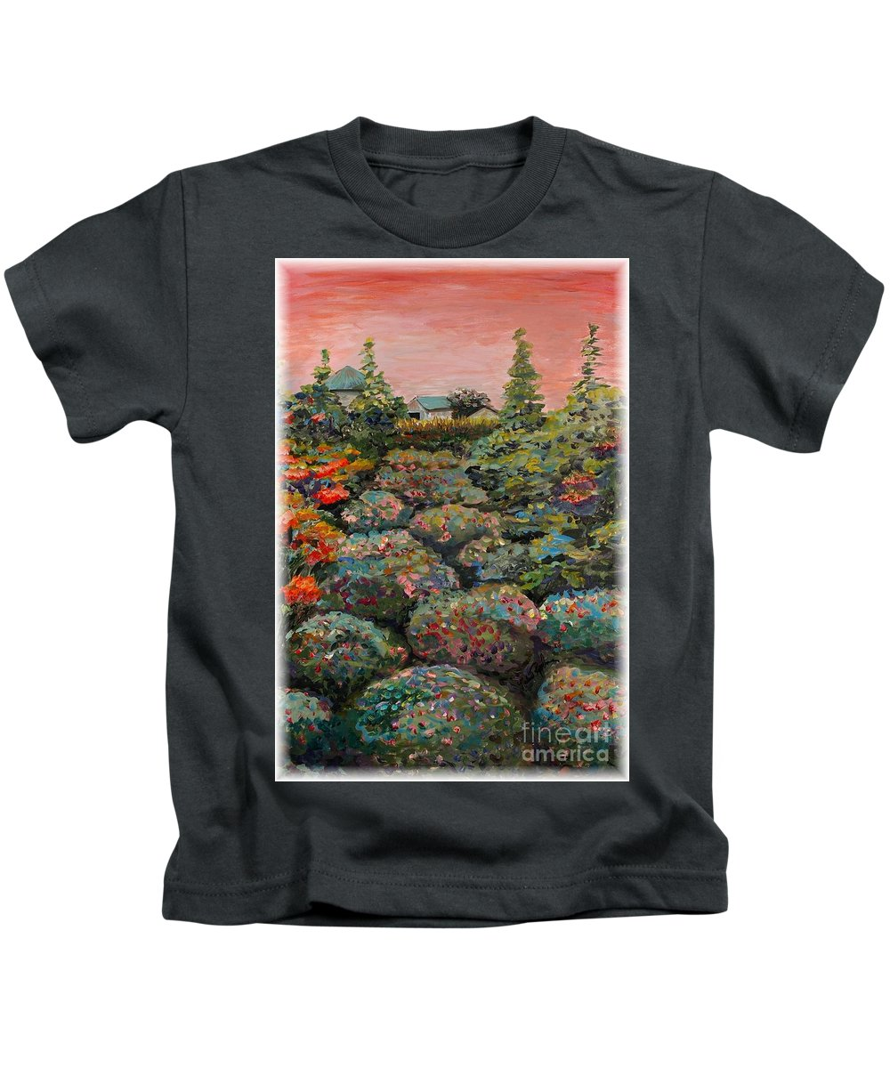 Minnesota Kids T-Shirt featuring the painting Minnesota Memories by Nadine Rippelmeyer