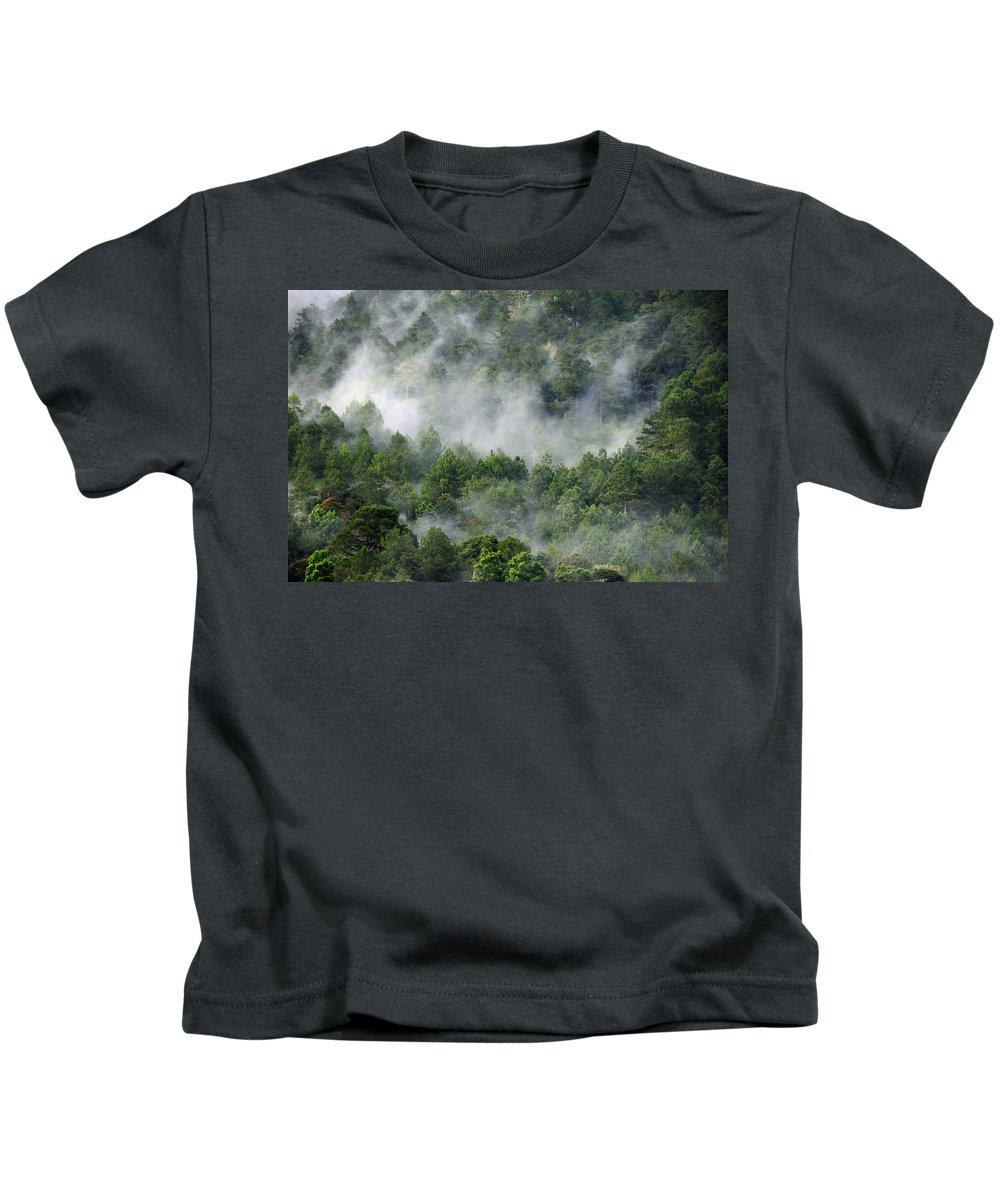 Skip Hunt Kids T-Shirt featuring the photograph Mistico De San Jose De Pacifico by Skip Hunt