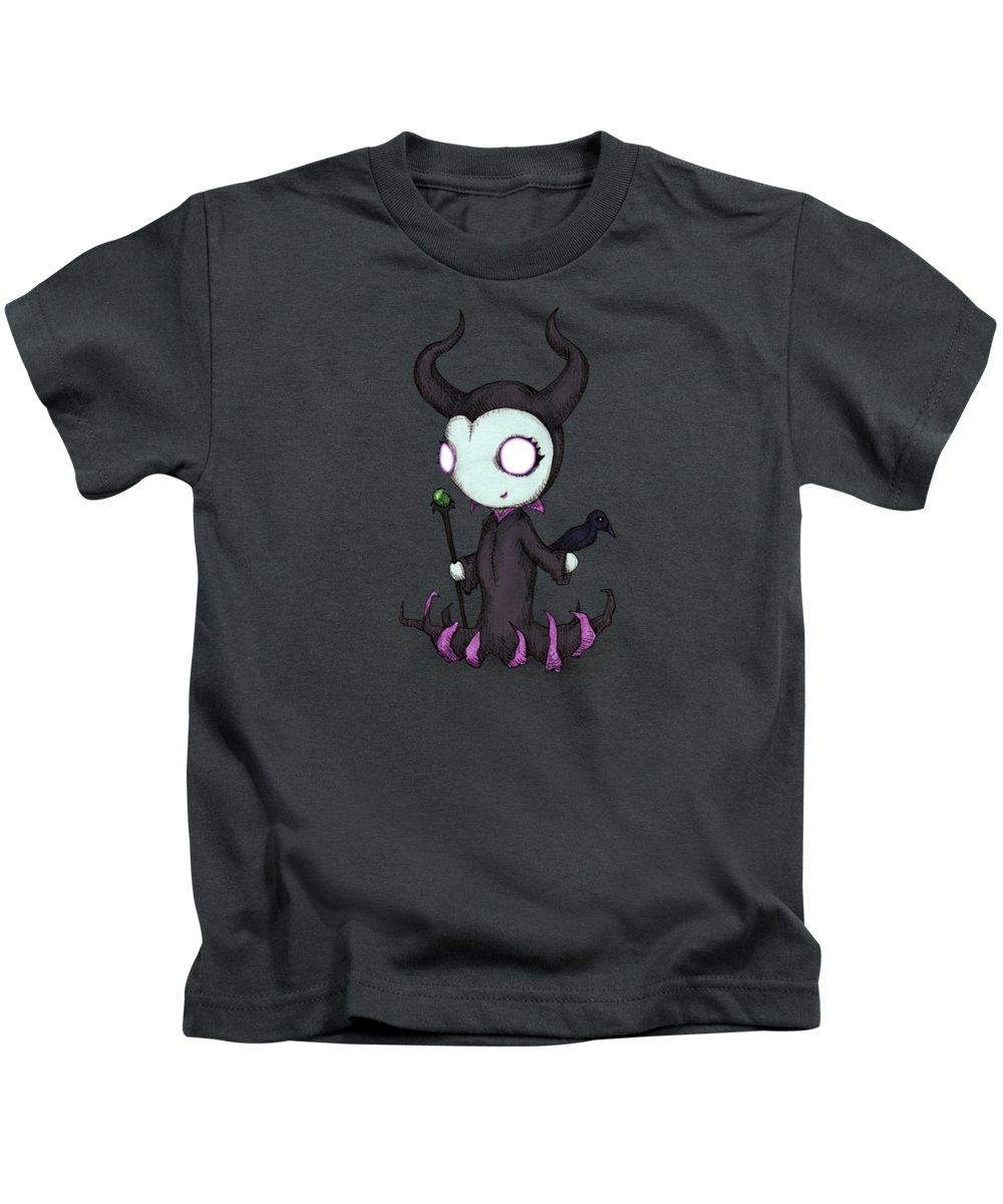 Raven Drawings Kids T-Shirts