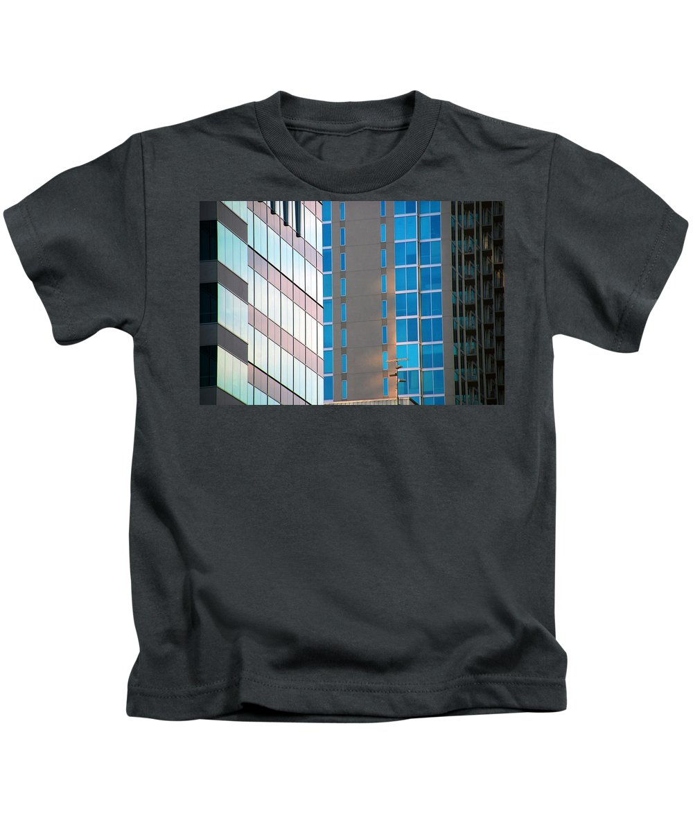 Architecture Photography Kids T-Shirt featuring the photograph Modern Architecture Photography by Susanne Van Hulst