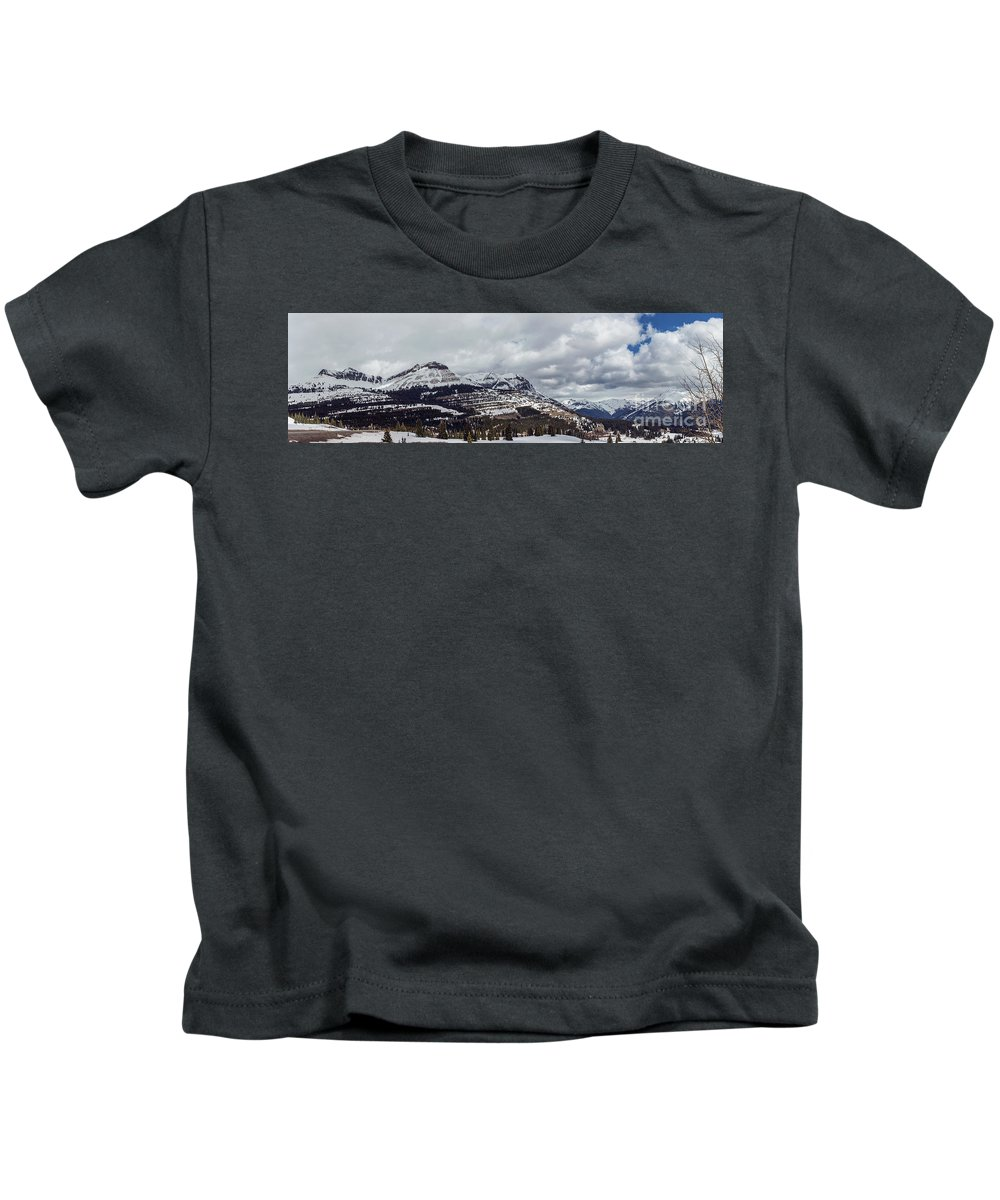 Mountains Kids T-Shirt featuring the photograph Molas Pass Summit by Joan McCool