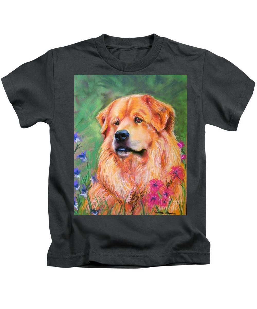Chow Kids T-Shirt featuring the painting Molly by Frances Marino