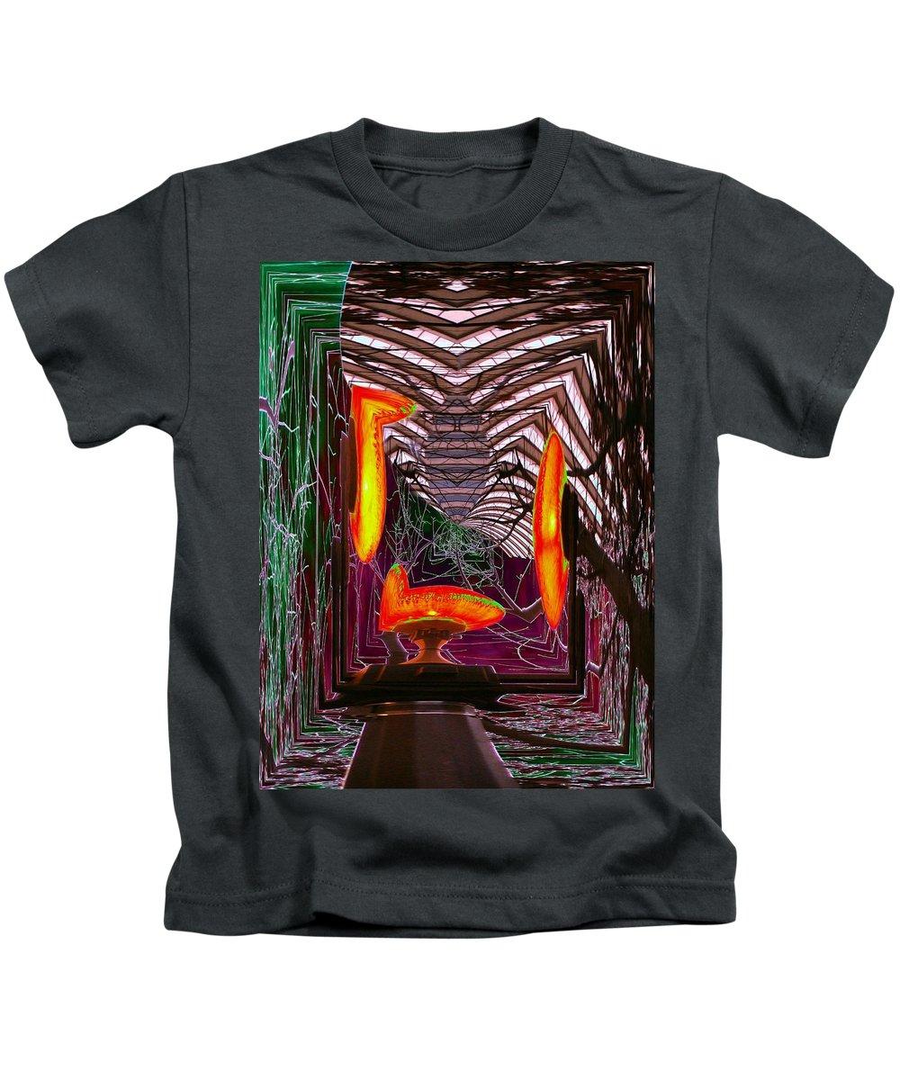 Lamp Kids T-Shirt featuring the photograph Molten by Tim Allen