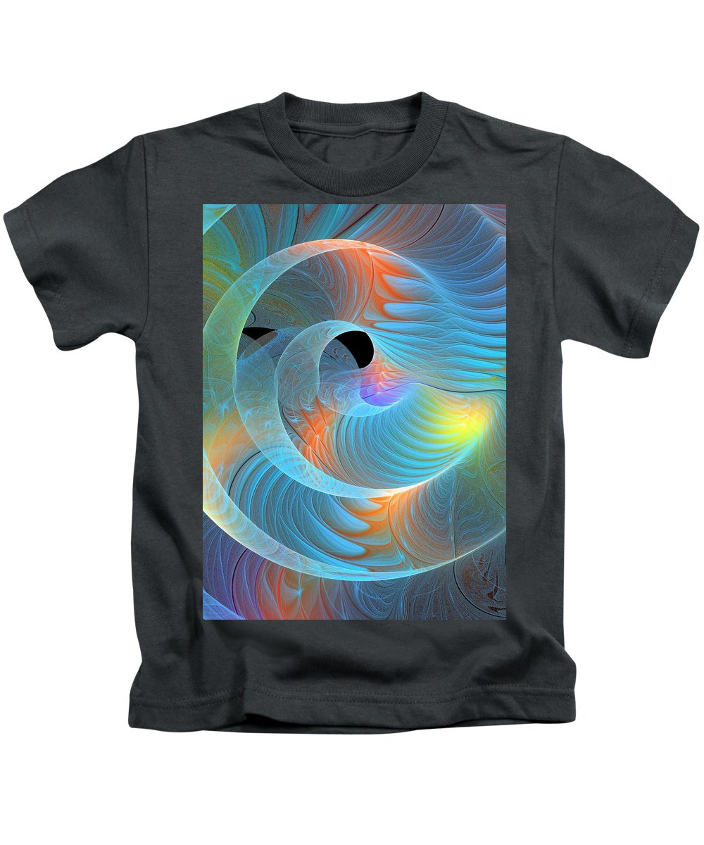 Digital Art Kids T-Shirt featuring the digital art Moment Of Elation by Amanda Moore