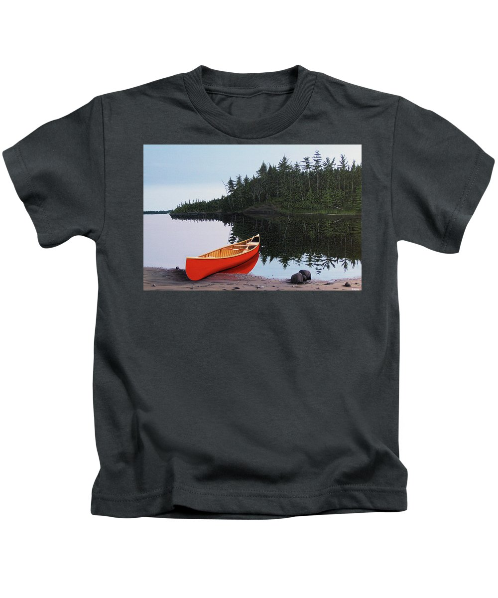 Landscapes Kids T-Shirt featuring the painting Moments Of Peace by Kenneth M Kirsch