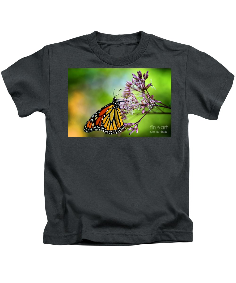 Monarch Kids T-Shirt featuring the photograph Monarch by Lois Bryan