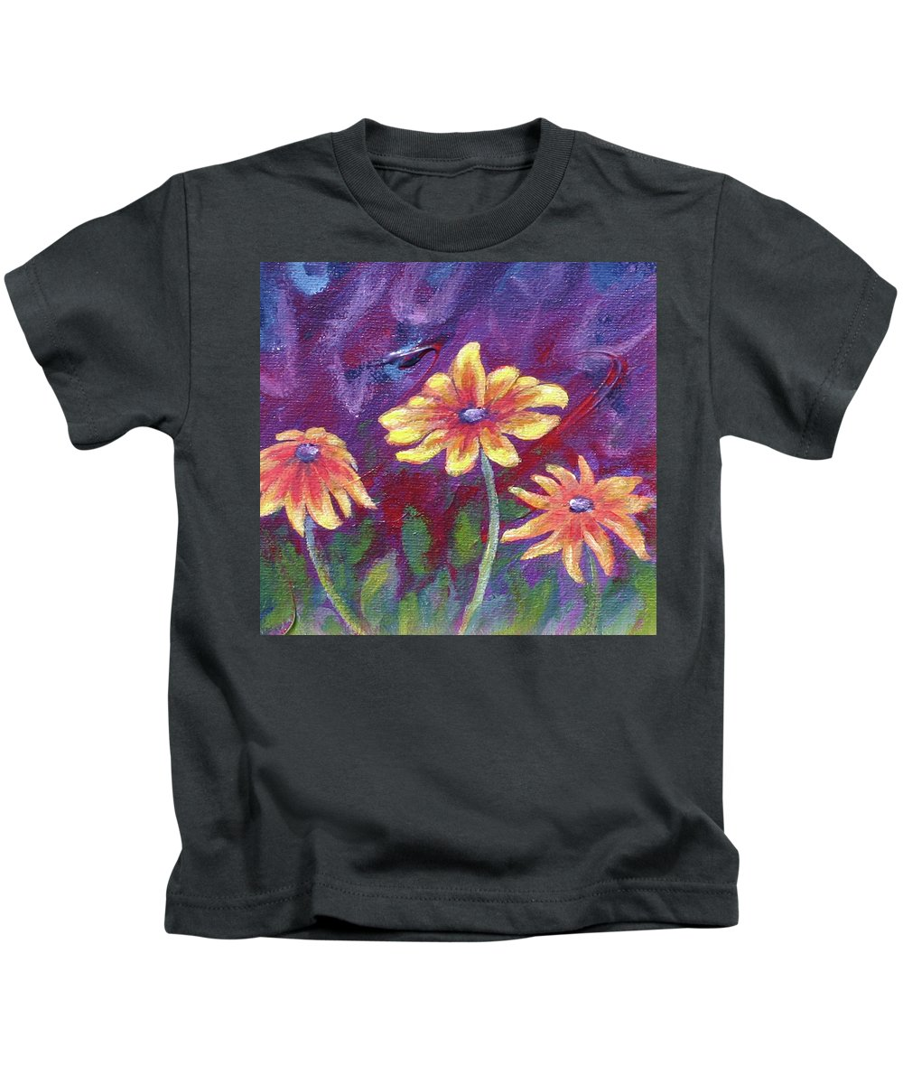 Small Acrylic Painting Kids T-Shirt featuring the painting Monet's Small Composition by Jennifer McDuffie