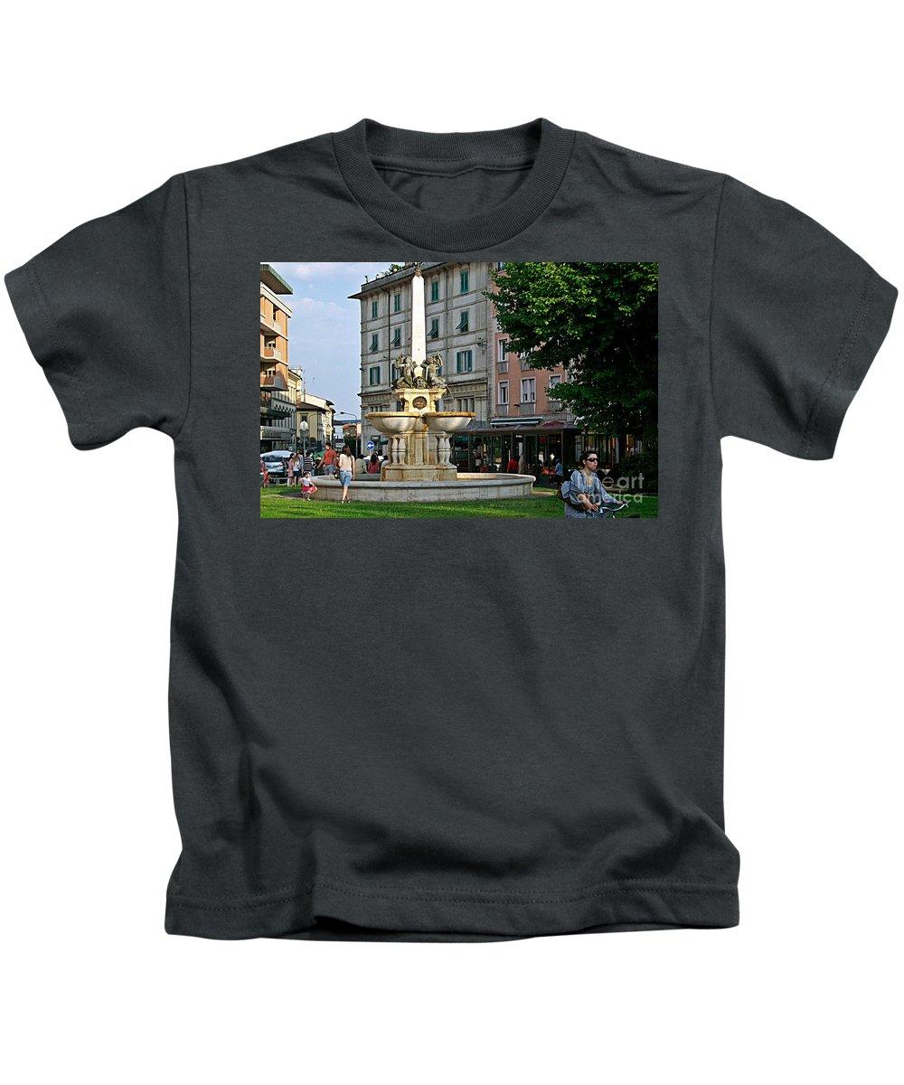 Montecatini Kids T-Shirt featuring the photograph Montecatini-5 by Rezzan Erguvan-Onal
