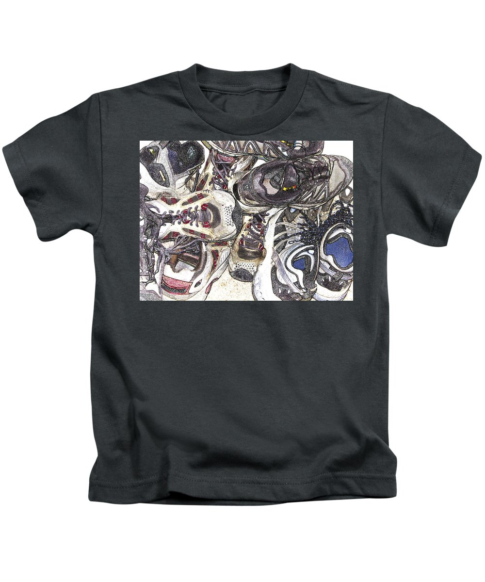 Abstract Kids T-Shirt featuring the photograph Montrails And Solomons by Karen W Meyer